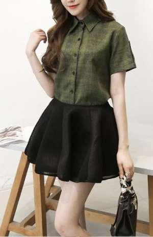 绿色格子衬衫