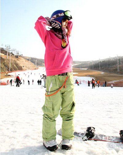 圣诞服饰专题 滑雪出游的韩式搭配